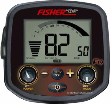 Metalldetektor Fisher F19 Bedienelement