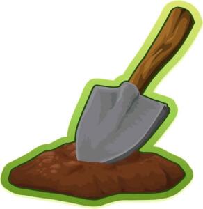 Der Schatzsucher sollte seine gegrabenen Löcher wieder schliessen