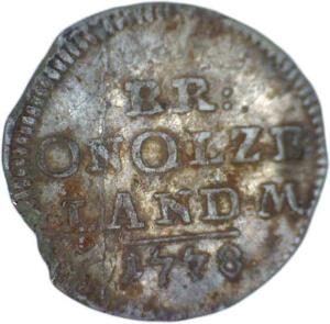 Landmünze Silbermünze 1776