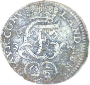 Gefundene Silberünze aus Bayern