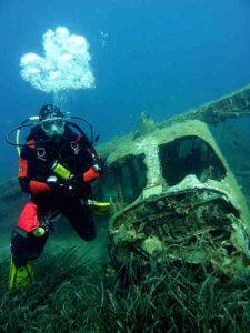 Unterwasser Metalldetektor Wracktauchen