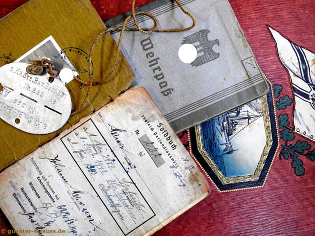 Alte Dokumente aus dem 03 reich für Soldaten