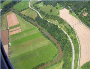 Luftbildarchäologie Blick nach unten