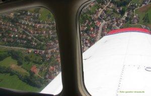 Luftbildarchäologie Blick aus dem fenster