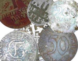 Münzfunde verschiedener Epochen