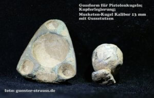 Bleihaltige Munition Musketenkugel Gussform
