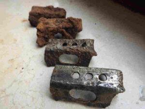 Granatenteile - Bei Granaten besteht Lebensgefahr