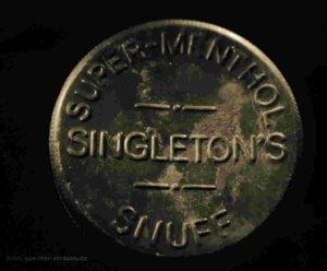Schnupftabak Dose Singleton