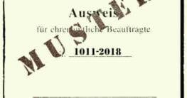 Landesamt für denkmalpflege Musterausweis für Sondengänger