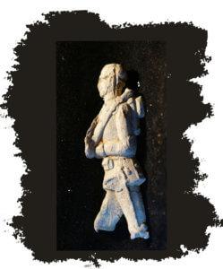Zinnfiguren und Bleisoldaten: Marschierender Bleidoldat